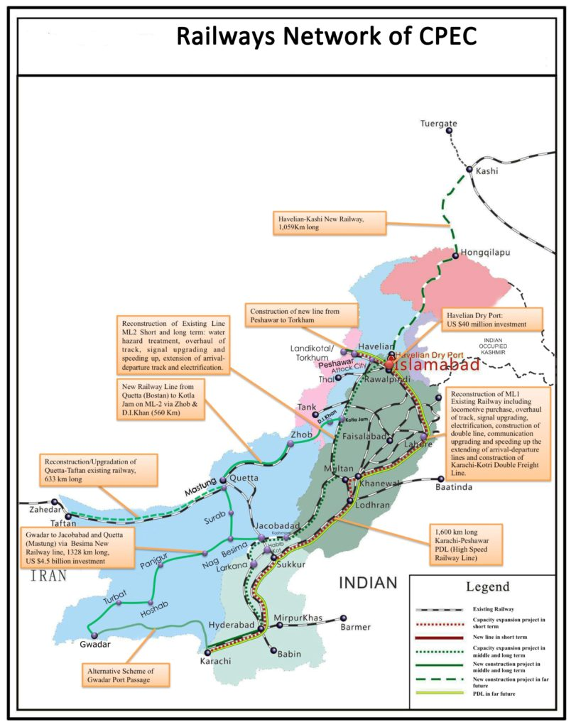 Railway Network of cpec
