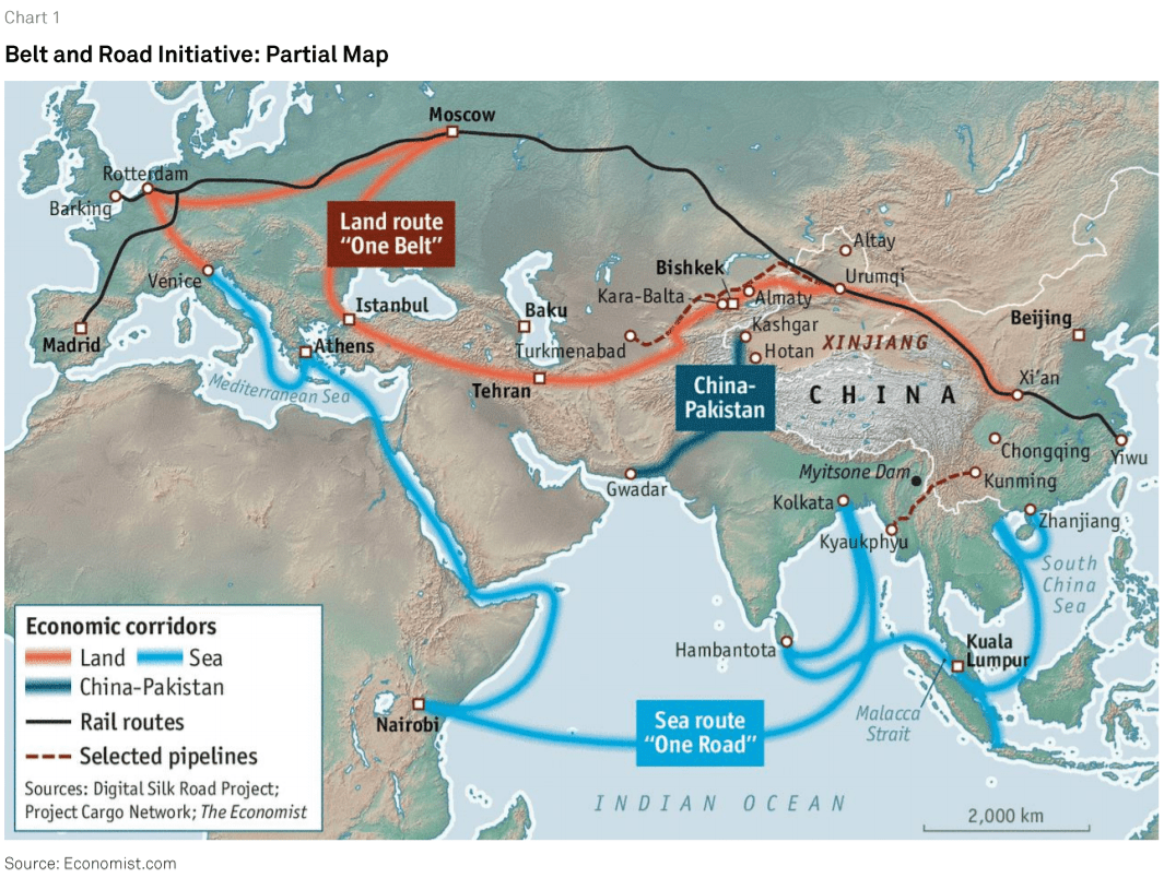 Belt and Road Initiative Partial Map
