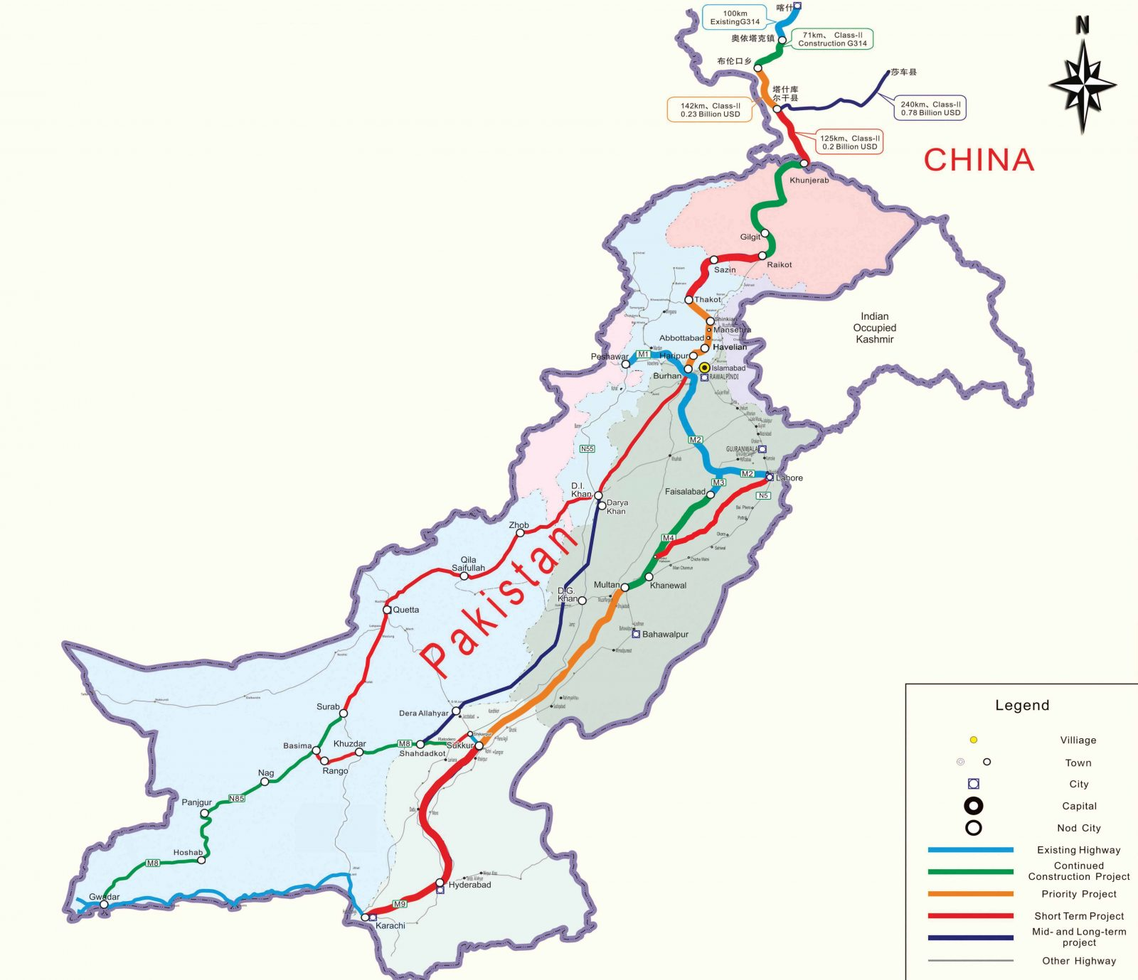 Highway Network of cpec